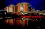 leeds-river-front-by-night-impressionist