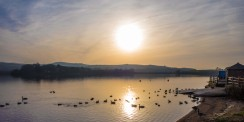 Sunrise over Hollingworth Lake